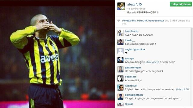 Alex\'ten derbi mesajı!-Futbol-Süper Lig