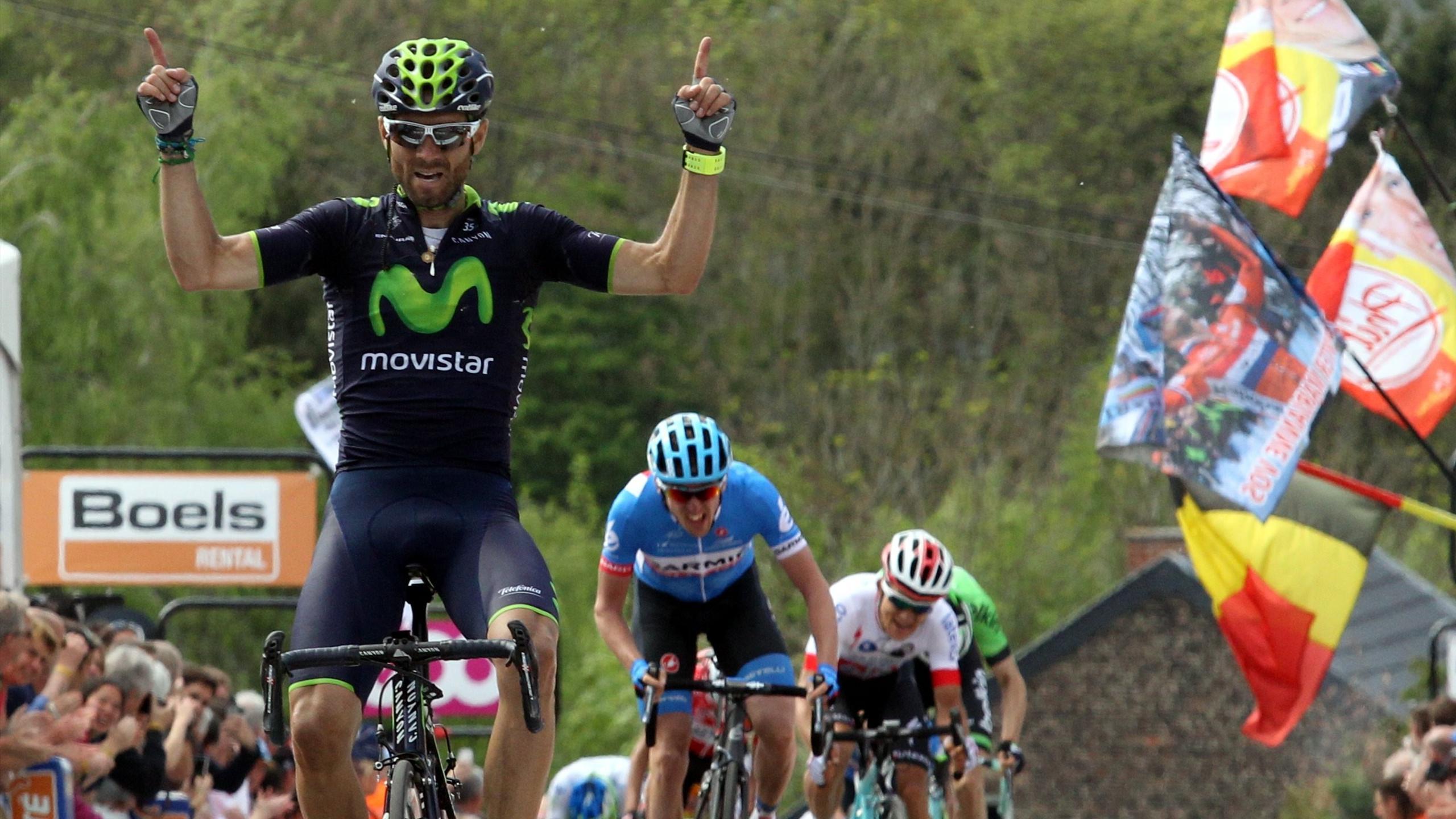 Alejandro Valverde (Movistar) remporte la Flèche wallonne 2014