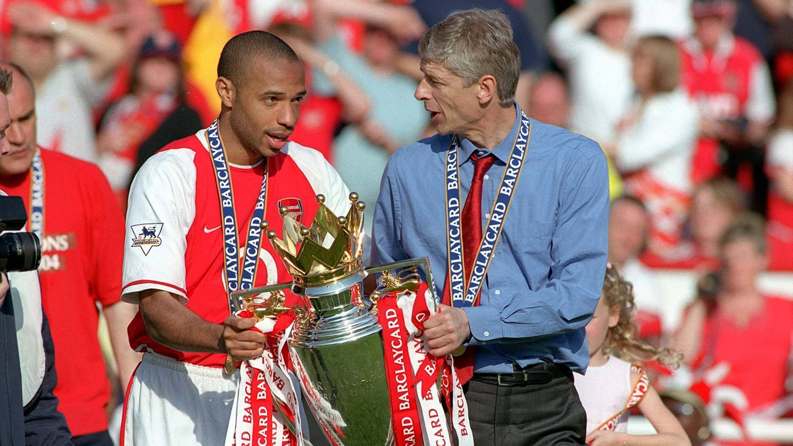 Thierry Henry and Arsen Wenger