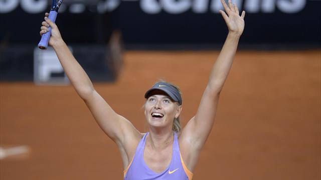 Trois ans, trois titres : Sharapova réussit le carton plein