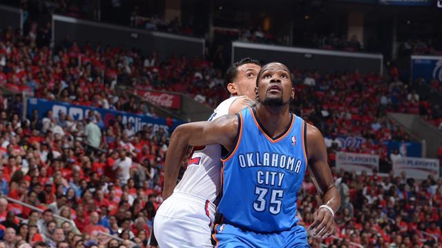 Kevin Durant prive les Clippers d'une finale de conférence