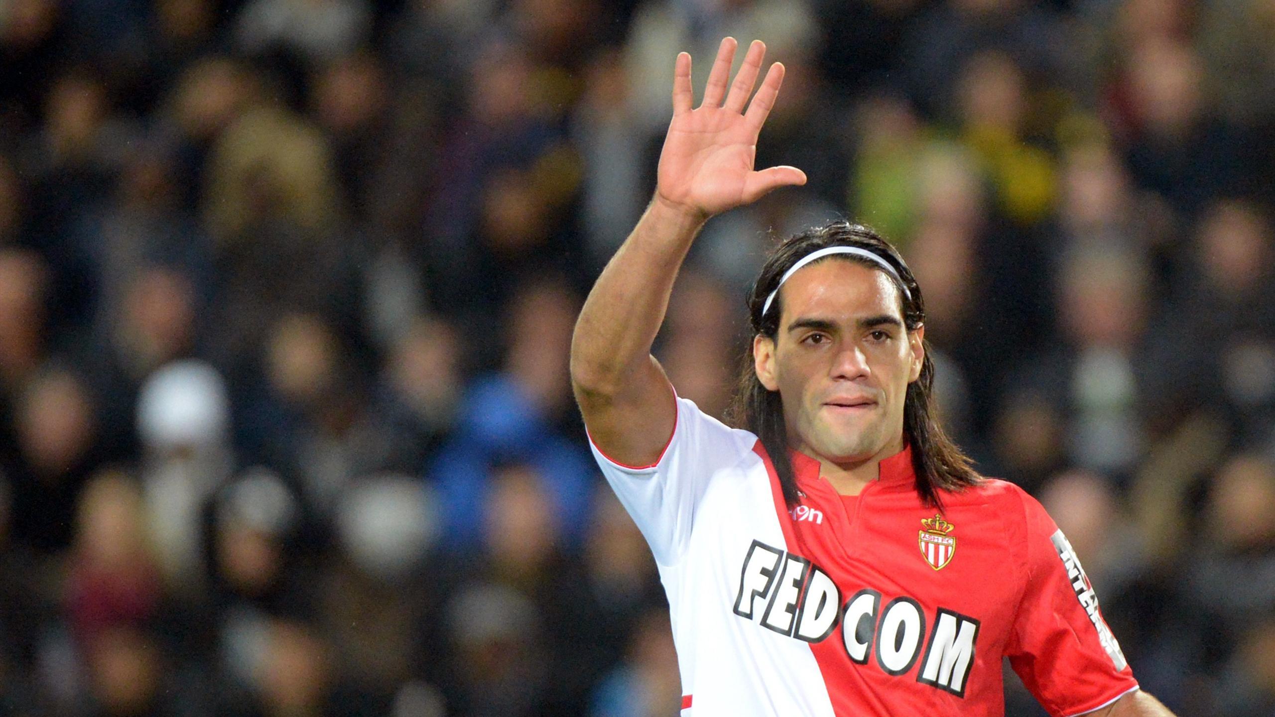 Radamel Falcao, attaquant de l'AS Monaco. Saison 2013-2014