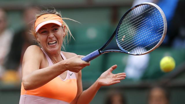 Sharapova serves up double bagel, Radwanska crashes out
