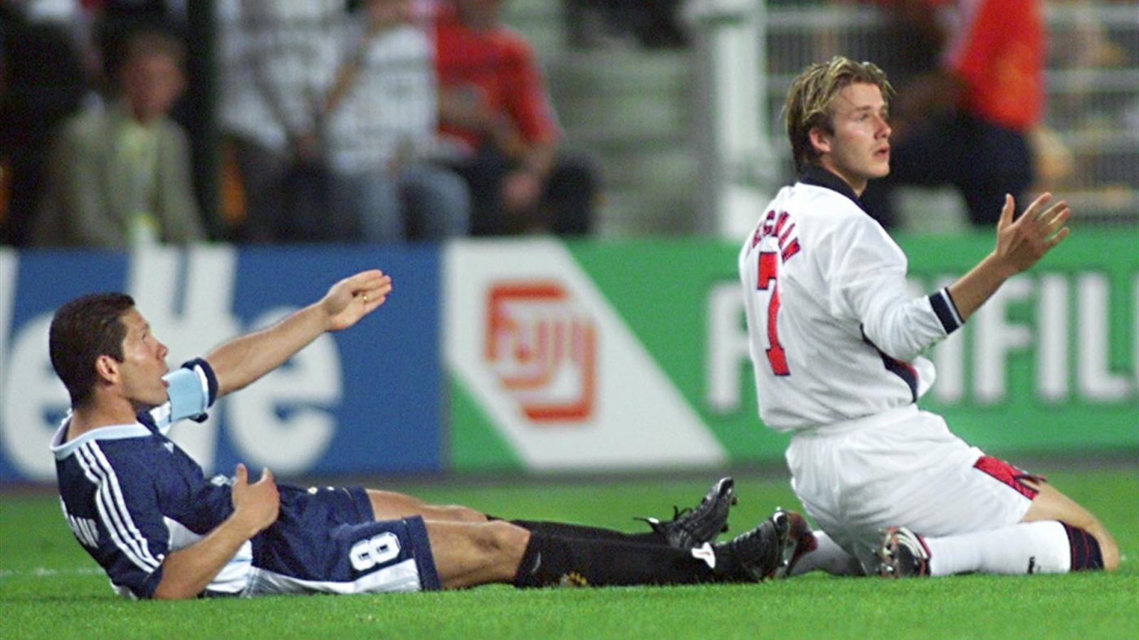 David Beckham and Diego Simeone