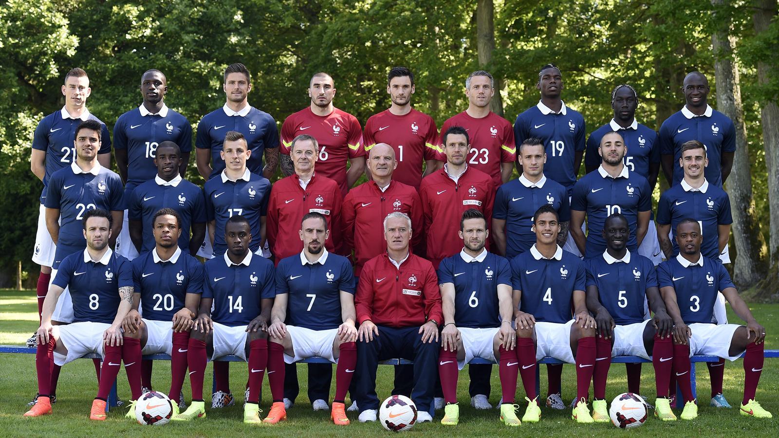 La photo officielle des bleus pour la coupe du monde - Coupe du monde 1994 equipe de france ...