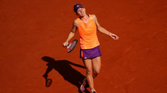 Nervous Halep admits losing her cool after umpire's call