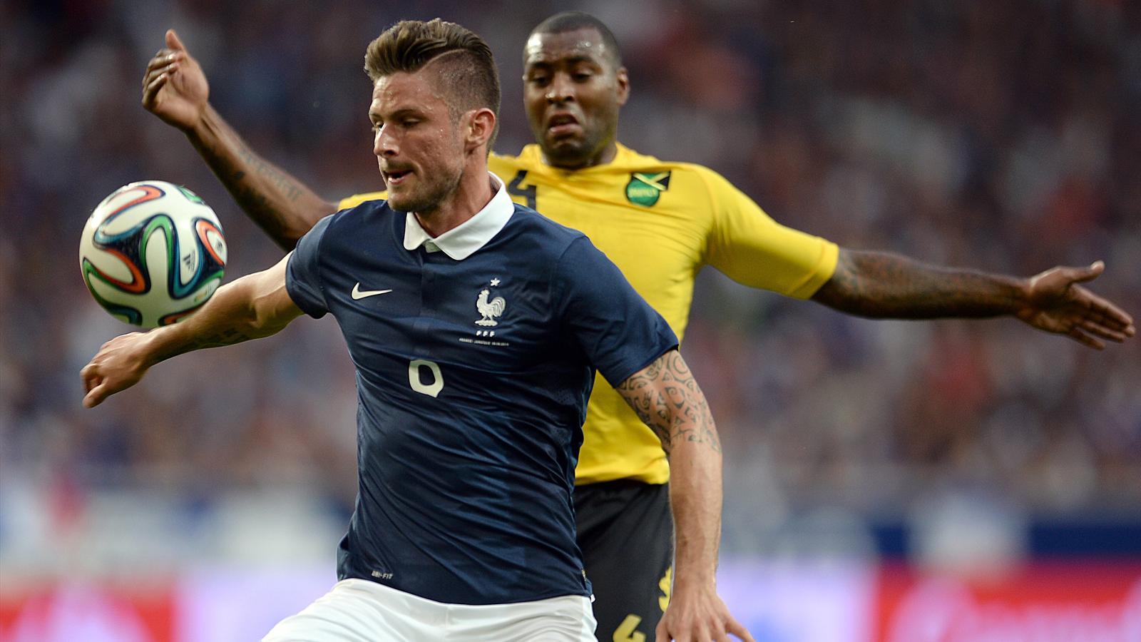 Olivier Giroud (France) face à la Jamaïque