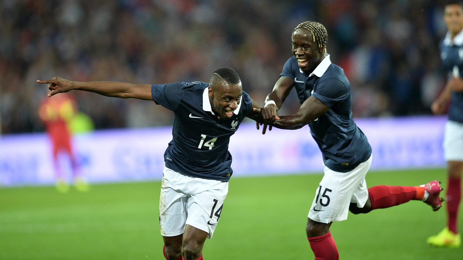 Blaise Matuidi fêtant son deuxième but de la soirée lors de France - Jamaïque