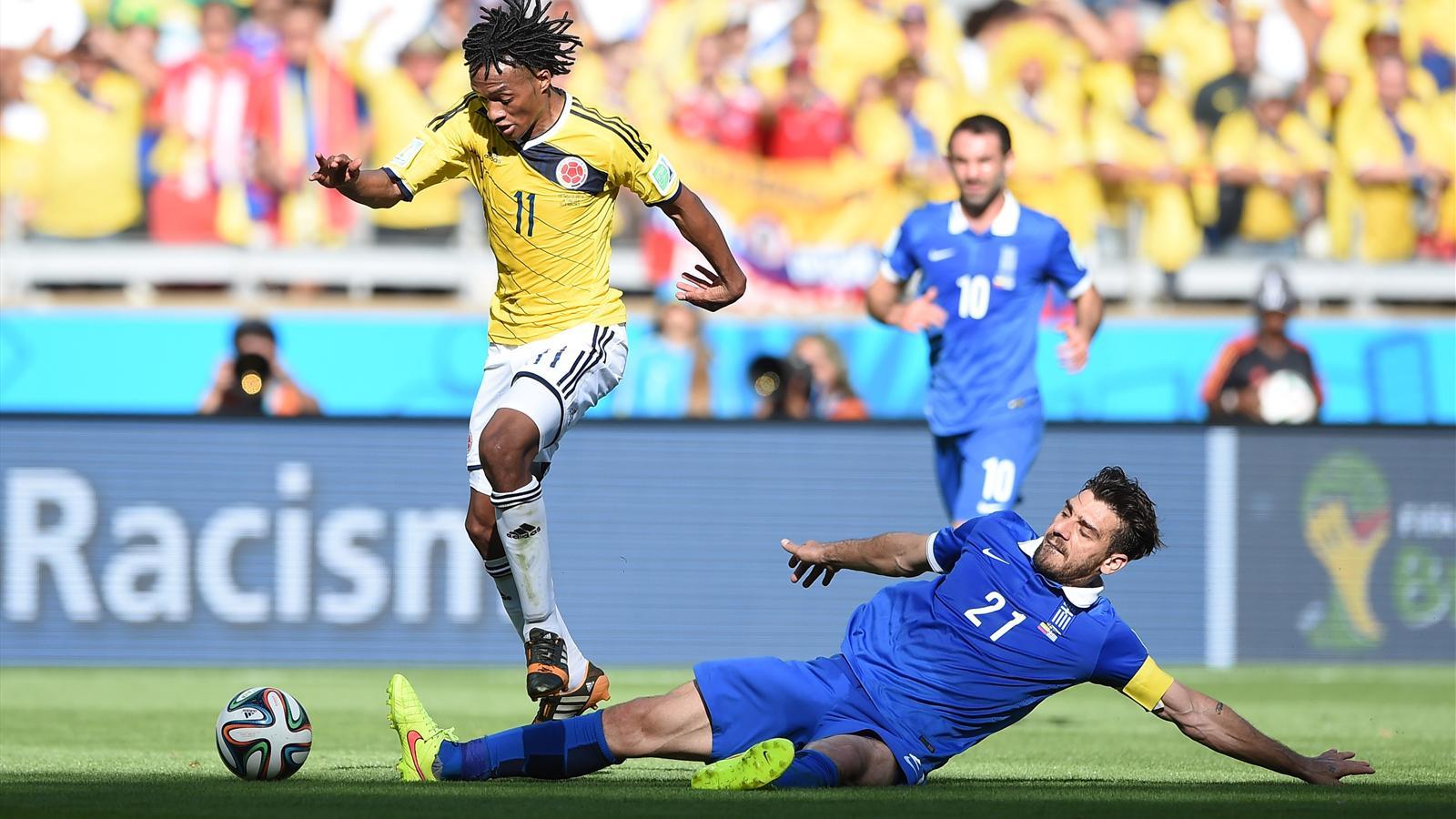 Cuadrado a été l'un des grands artisans de la victoire de la Colombie face à la Grèce