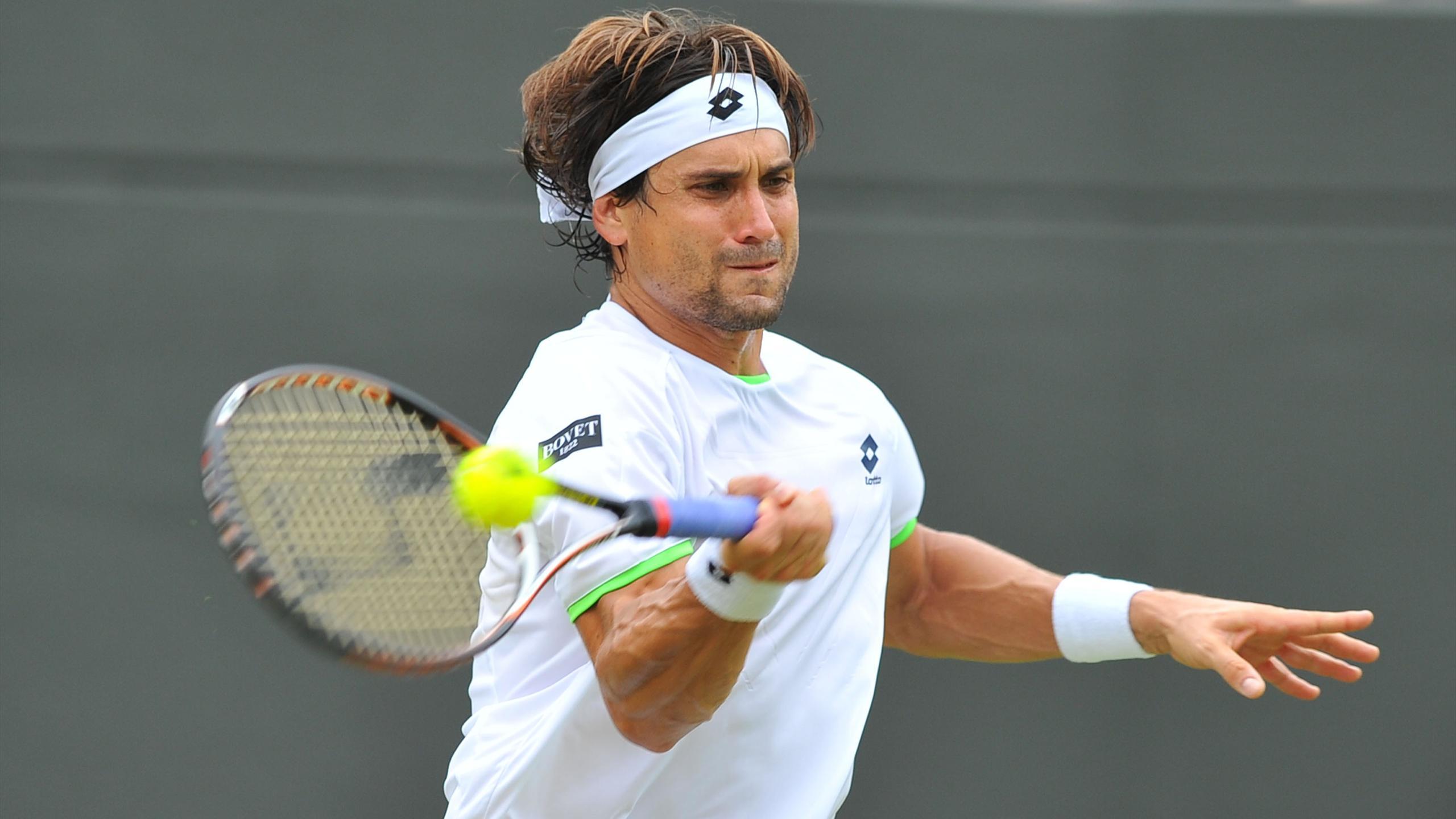 David Ferrer en 2013 sur le gazon de Wimbledon.