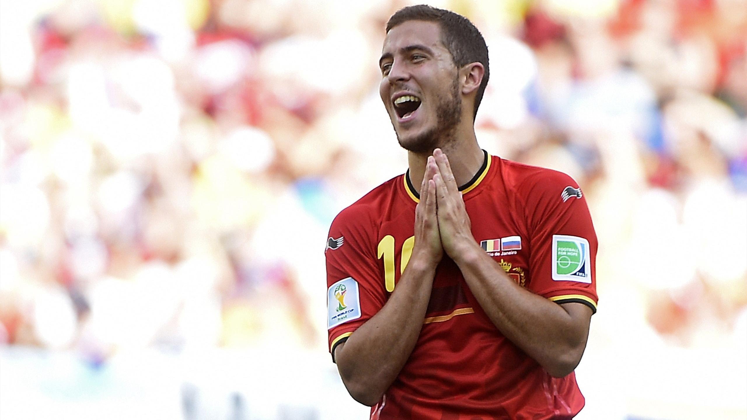 Eden Hazard avec l'équipe de Belgique à la Coupe du monde 2014