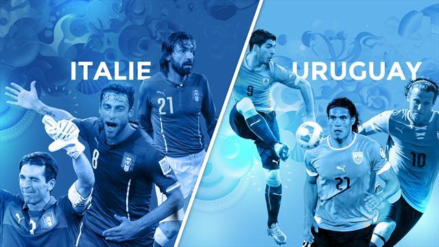 Italie - Uruguay, le match qui doit renvoyer un autre champion du monde à la maison