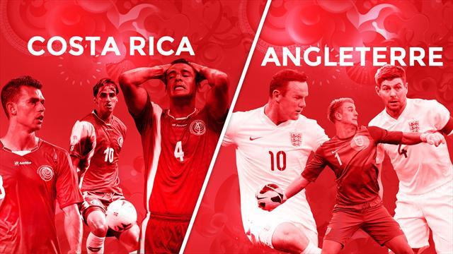 Costa Rica – Angleterre, le match qui doit confirmer la première place des Ticos