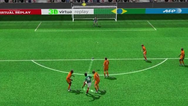 3D goal: Dos Santos opens the scoring