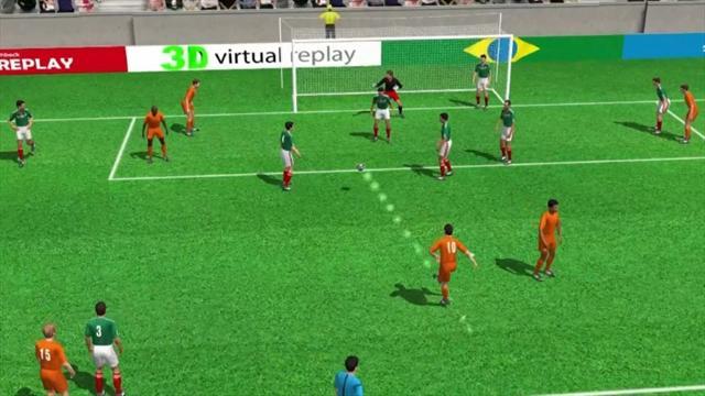 3D goal: Sneijder leveller