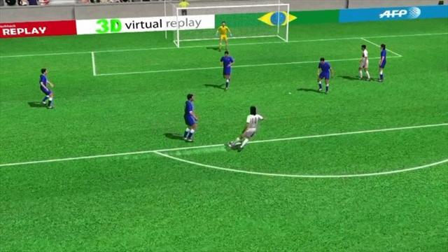 3D goal: Ruiz opens the scoring