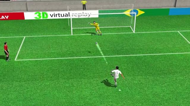 3D goal: Umana scores the winning penalty