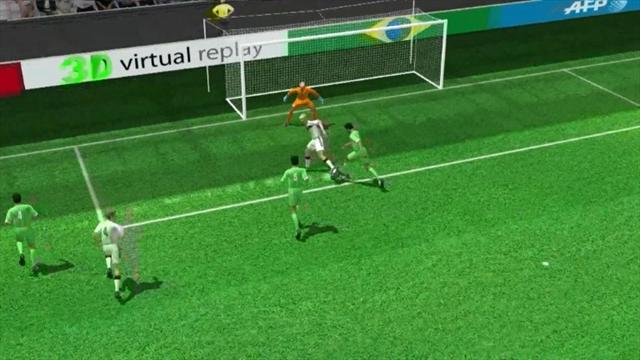 3D goal: Andre Schuerrle for Germany