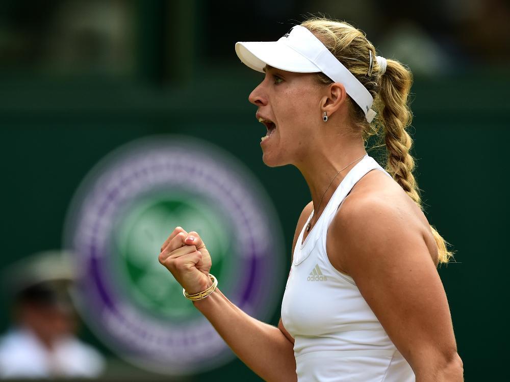 Kerber zieht ins Viertelfinale von Wimbledon ein