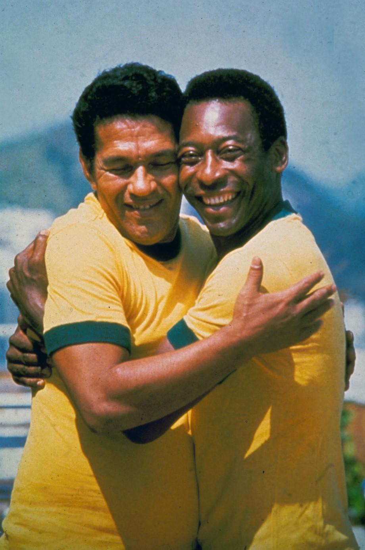 Garrinche et Pelé prennent la pause, date inconnue