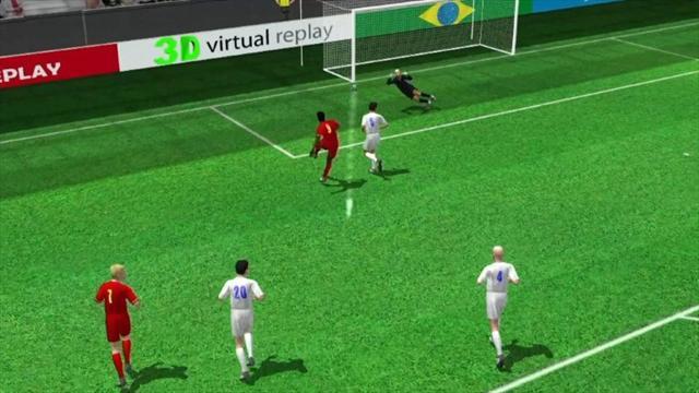3D goal: Romelu Lukaku for Belgium