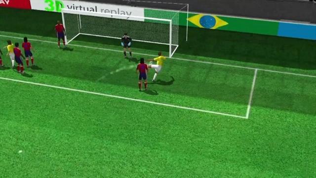 3D goal: Silva gets the first
