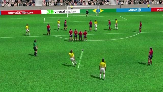 3D goal: Luiz scores stunning free-kick