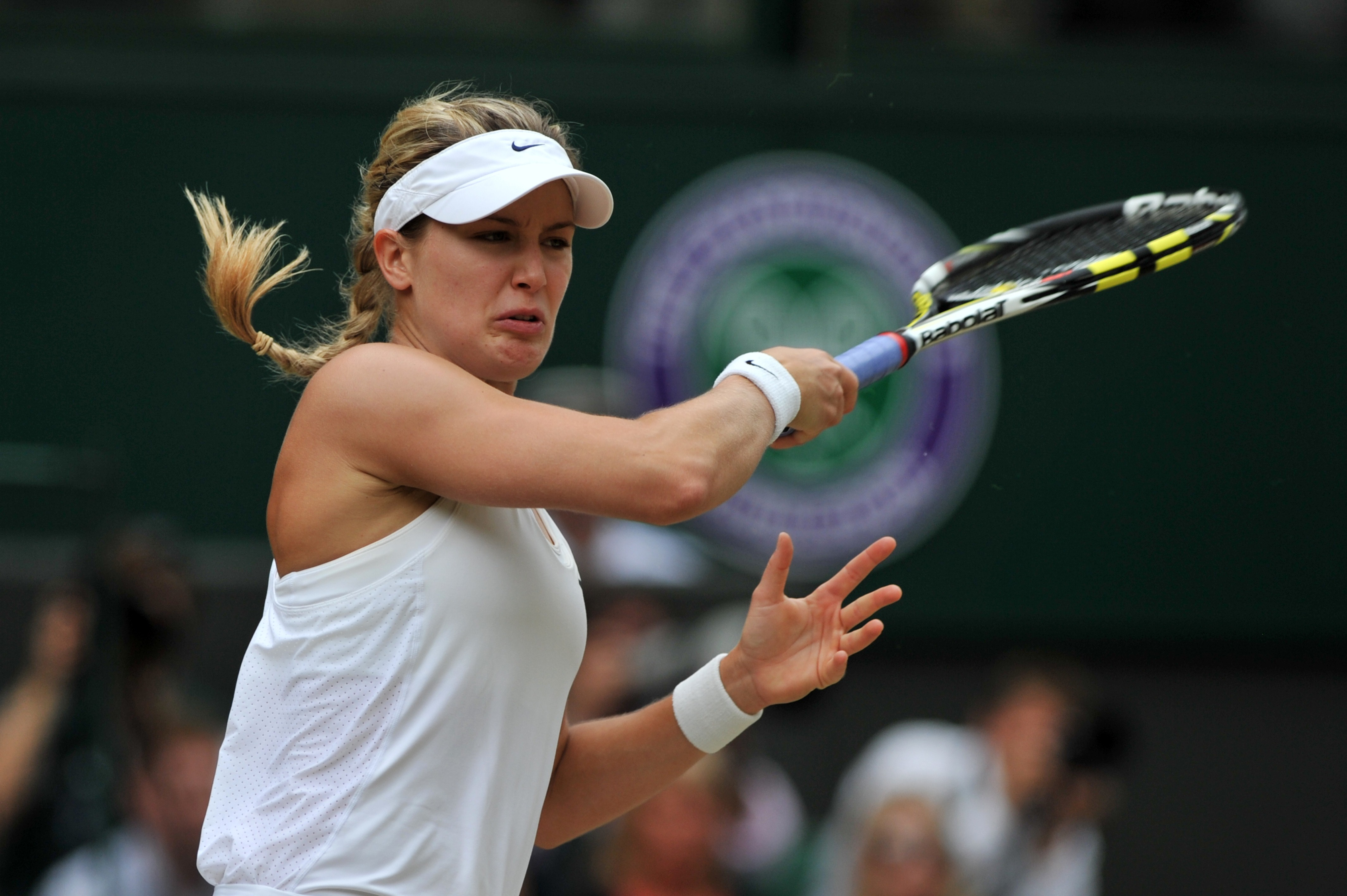 Eugenie Bouchard en finale de Wimbledon 2014