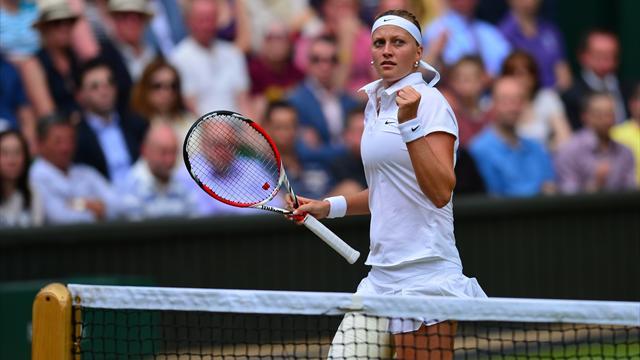 Kvitova a tout emport� sur son passage, Bouchard compris