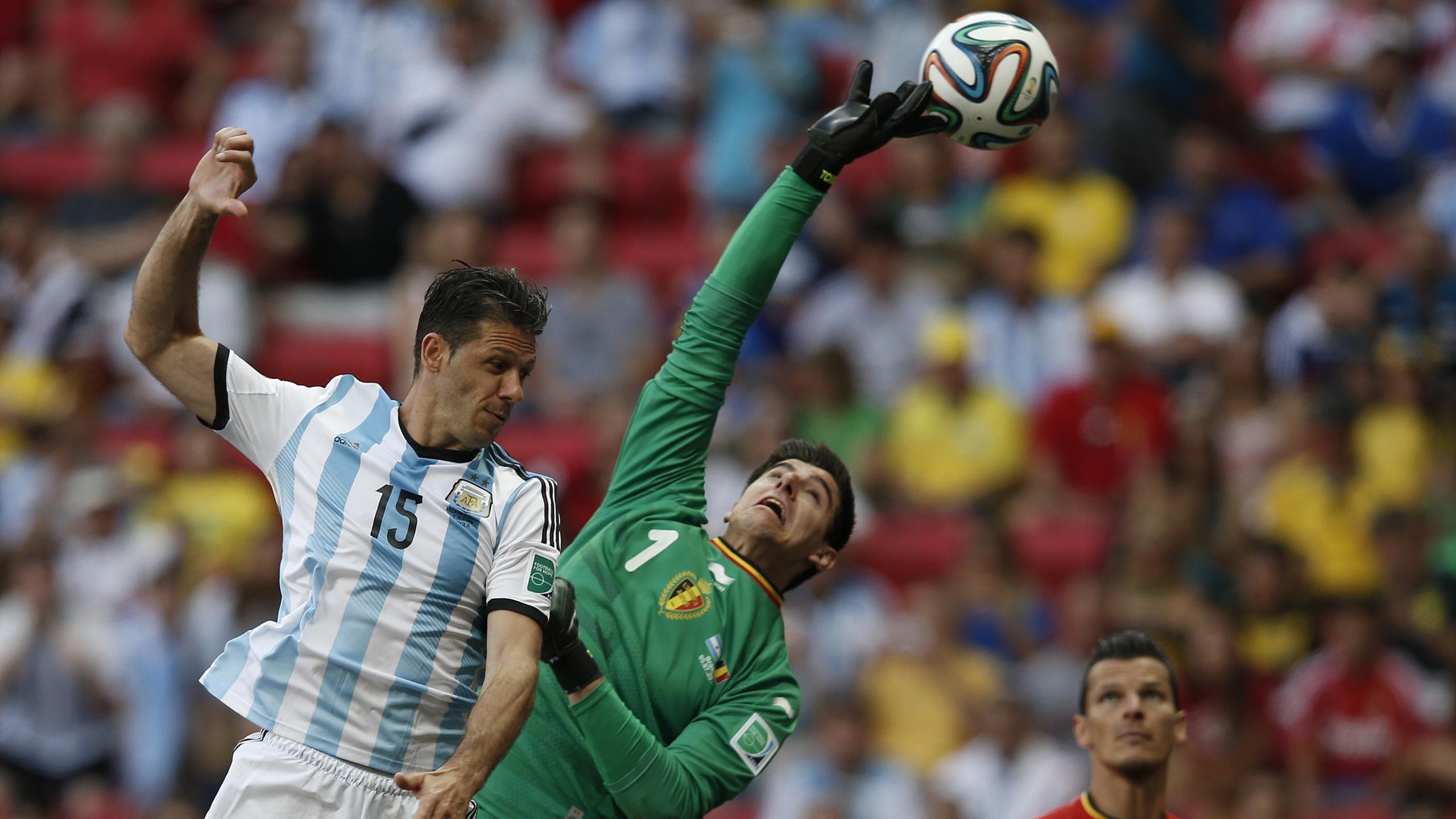 Thibaut Courtois avec la Belgique lors de la Coupe du monde 2014