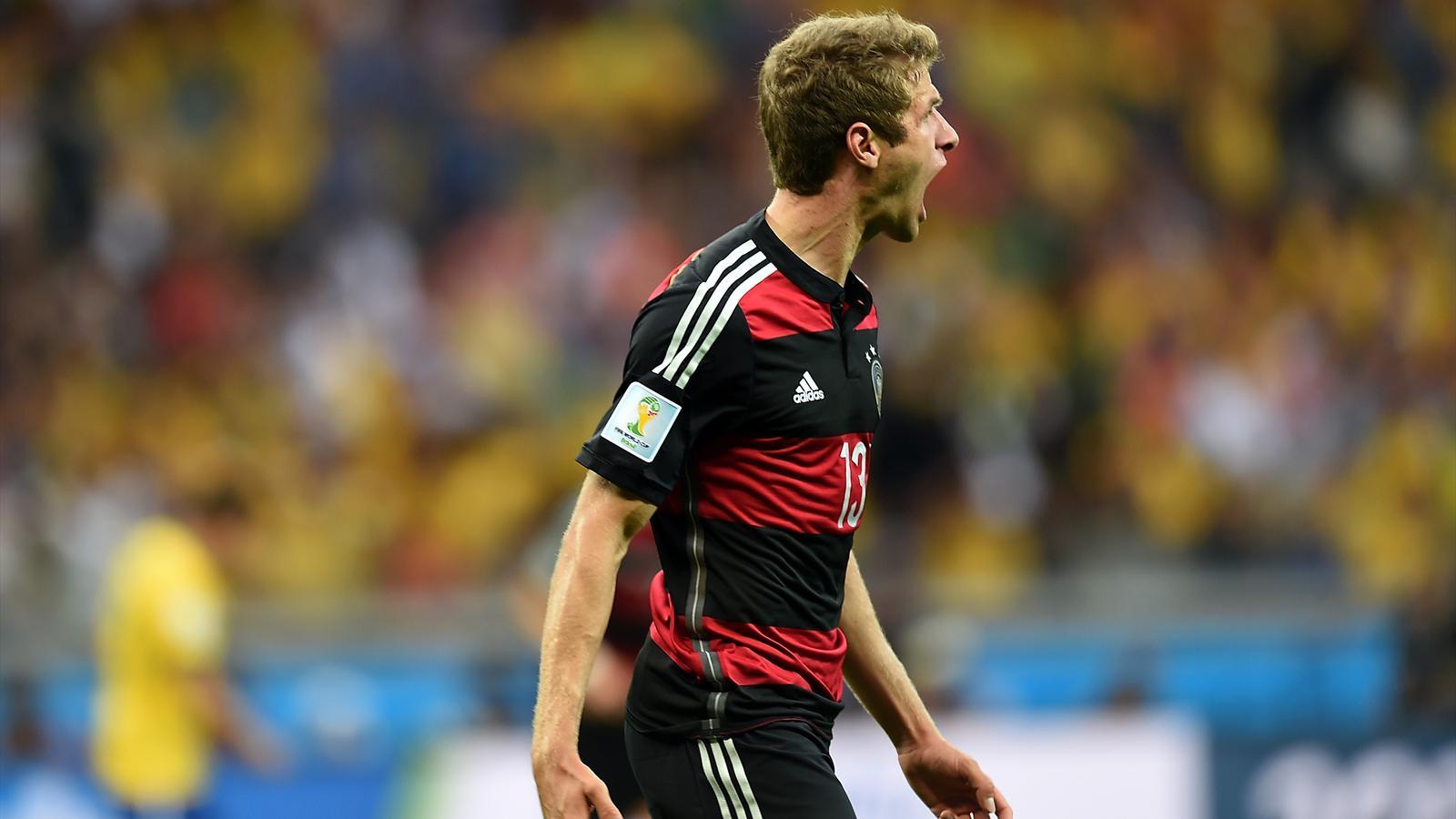 Thomas Müller (Allemagne) buteur face au Brésil