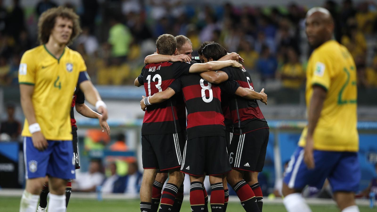 Brésil - Allemagne (1-7), analyse : Cette belle Allemagne méritait autre chose qu'une équipe de DH - Eurosport