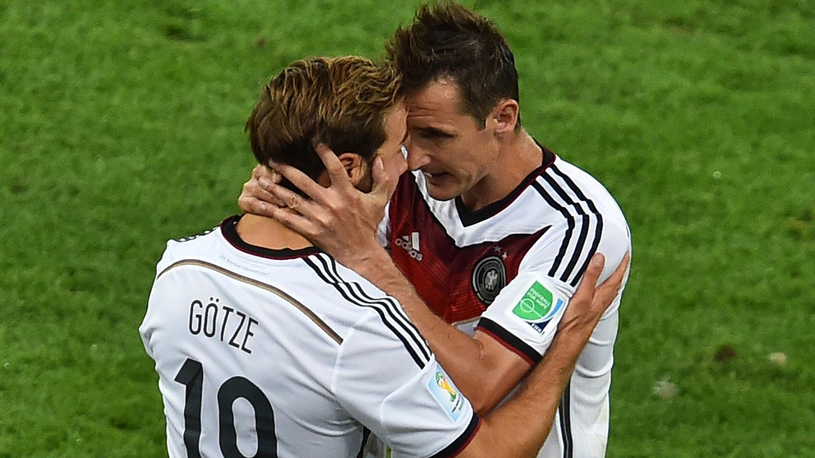 Mario Götze est rentré à la place de Miroslav Klose en finale