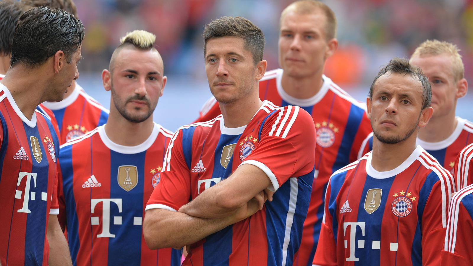 Robert Lewandowski avec le Bayern Munich lors de la Telekom Cup 2014