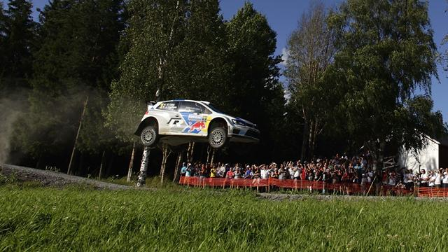 Ogier reels in Latvala in Finland