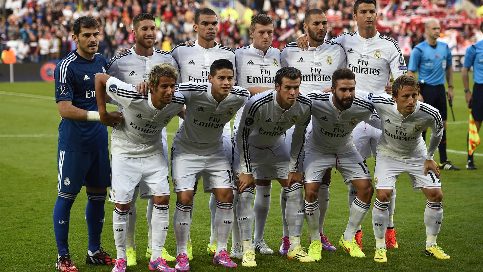 Real Madrid name most expensive starting XI in football history - European Super Cup 2014-2015 ...