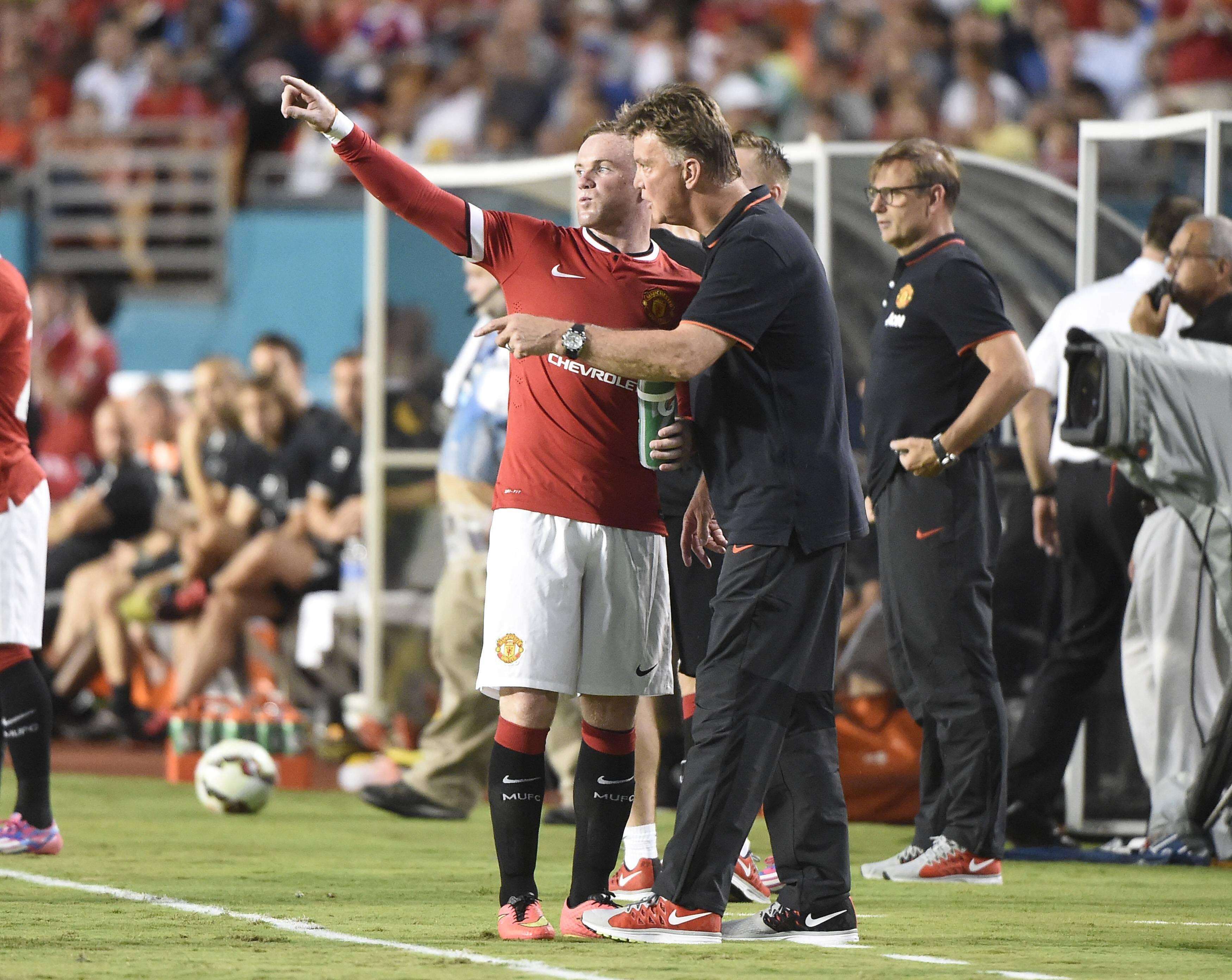 Уэйн Руни и Луи ван Гал («Манчестер Юнайтед»)