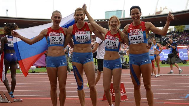 Женская сборная России стала третьей в эстафете 4х100 метров