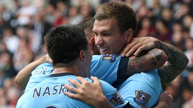 Manchester City grind out win at Newcastle