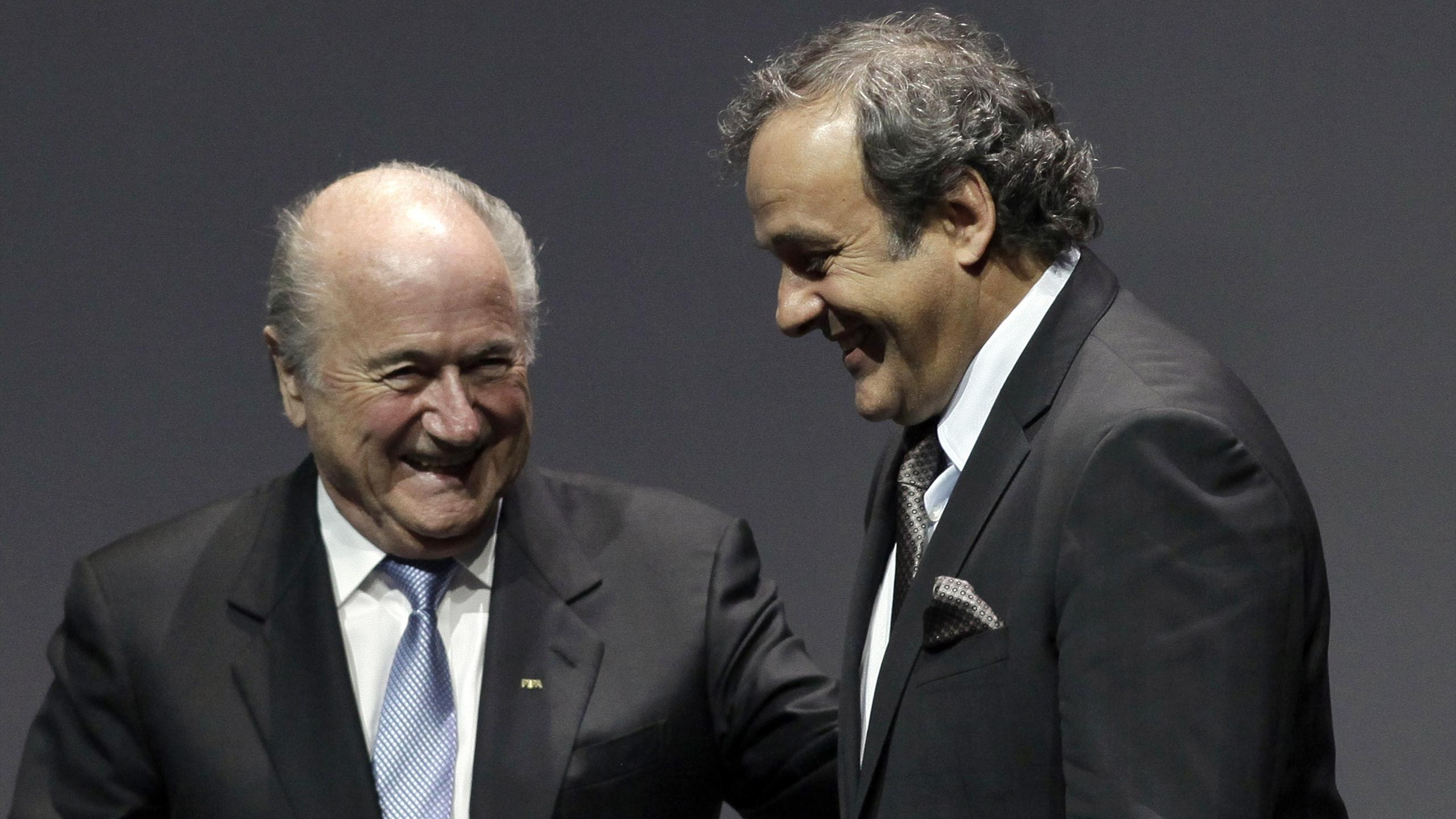 Michel Platini et Sepp Blatter