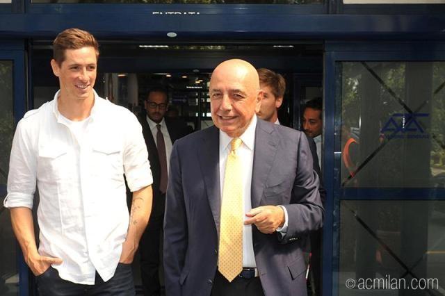 Фернандо Торрес и Адриано Галлиани, «Милан»