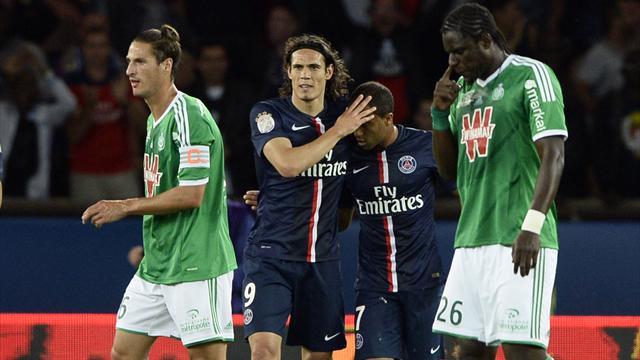 Edinson Cavani (PSG) face à Saint-Etienne