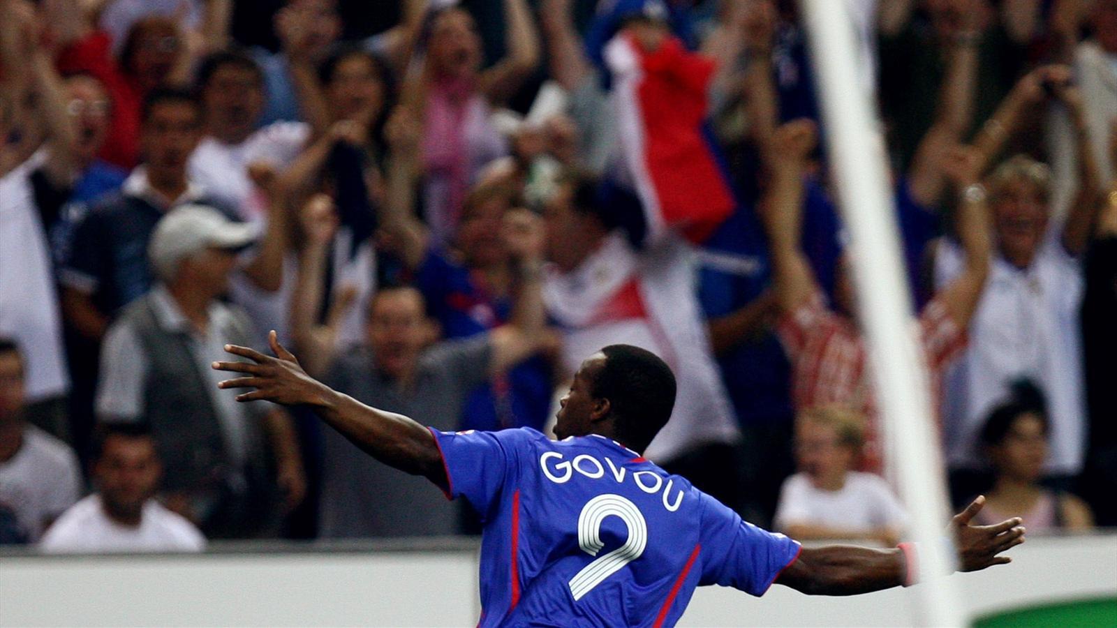 Sidney Govou avec la France contre l'Italie en 2006.