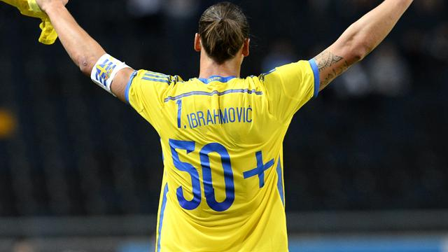 Un doublé et Zlatan devient le meilleur buteur de l'histoire de la Suède
