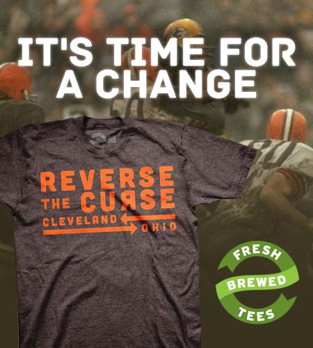 La malédiction est partout à Cleveland. Même sur les T-Shirts.