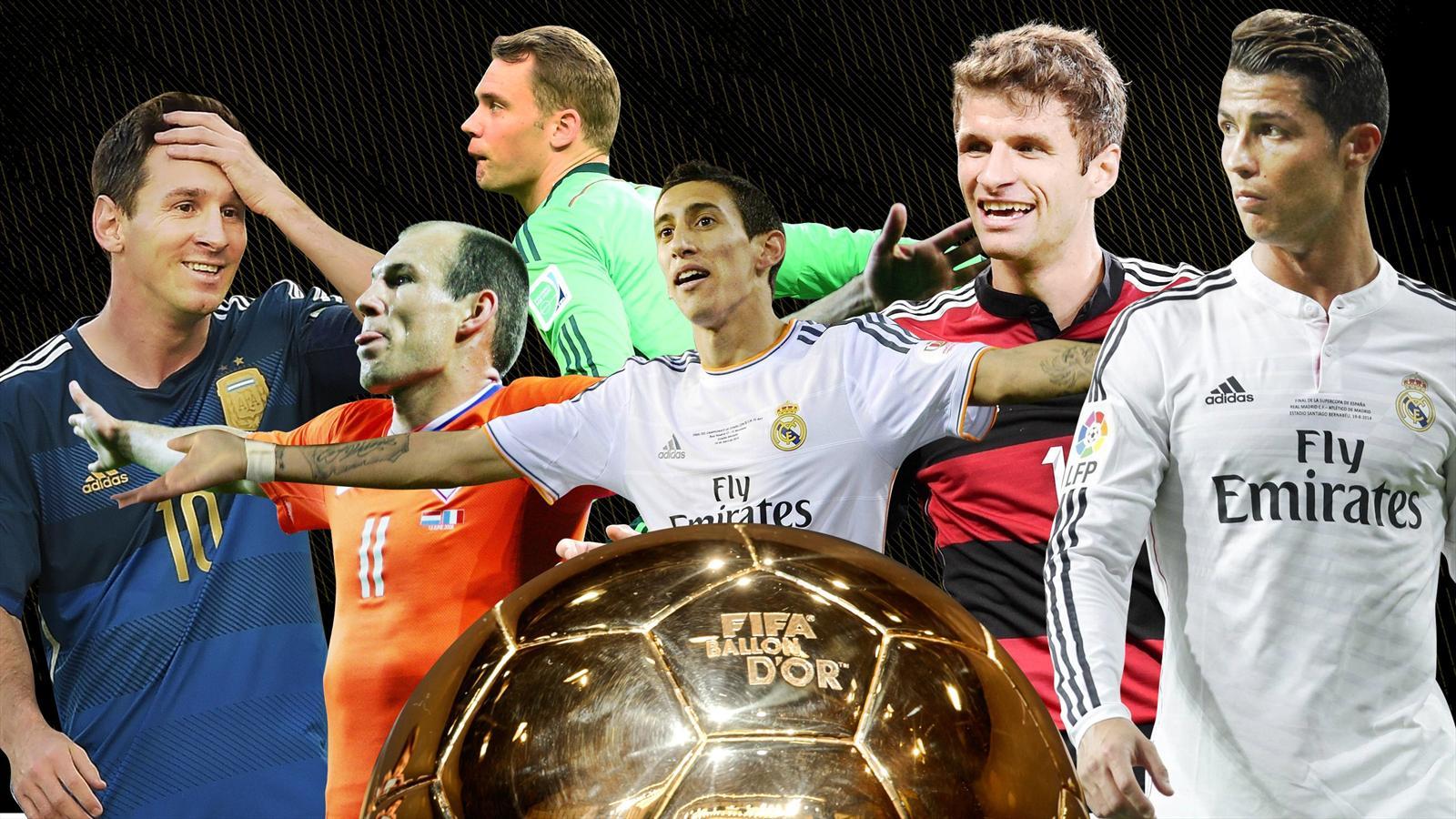 Robben, Messi, Ronaldo, Neuer, Müller et Di Maria sont des prétendants au Ballon d'or