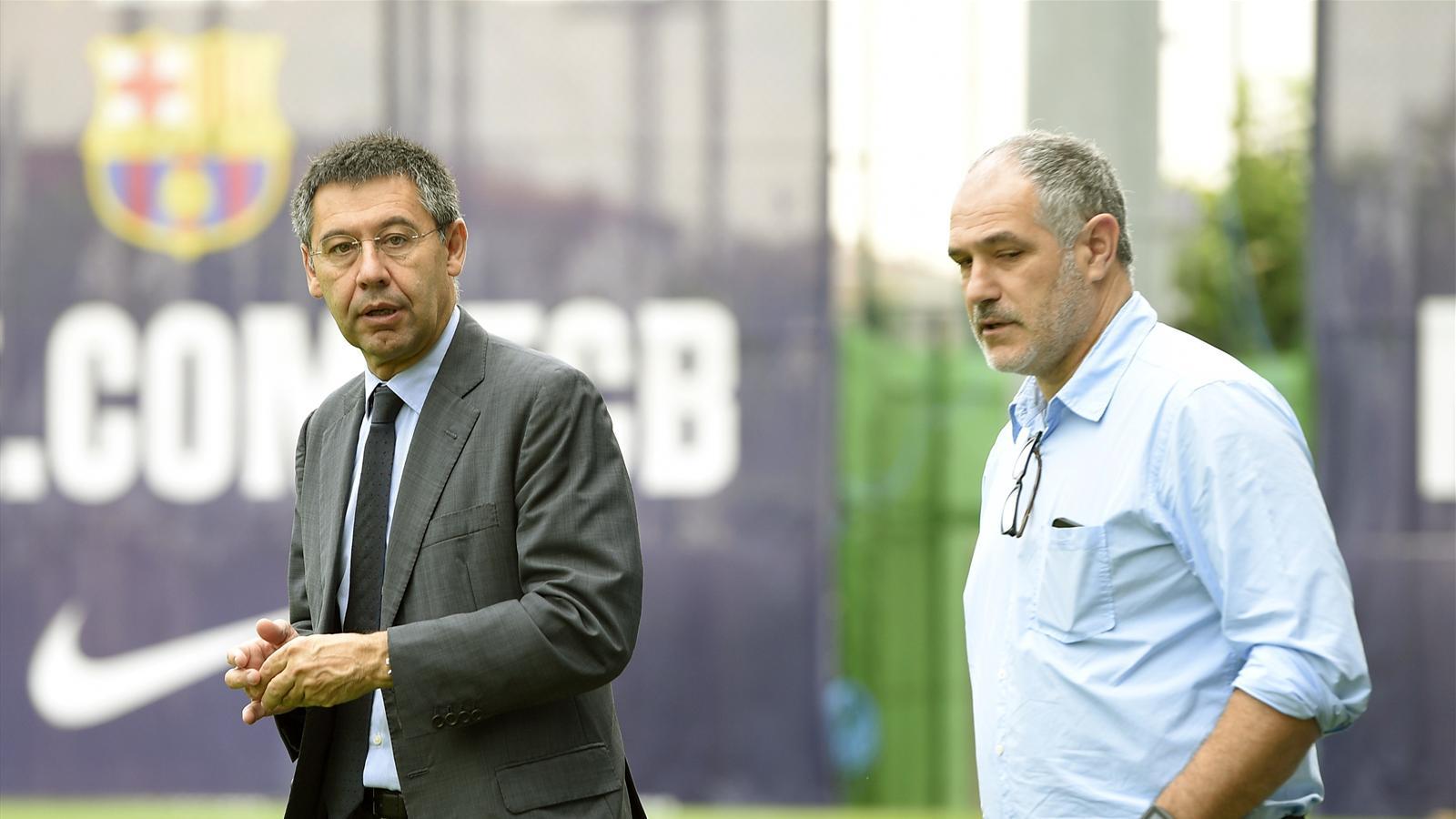 Josep Maria Bartomeu et Andoni Zubizarreta