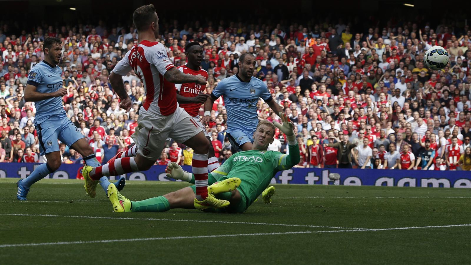 2014-15 Premier League, Arsenal-Manchester City, Jack Wilshere (AFP)