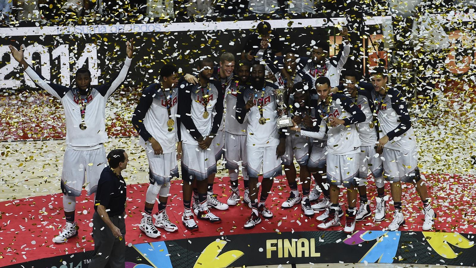 L'équipe des Etats-Unis célèbre son titre mondial