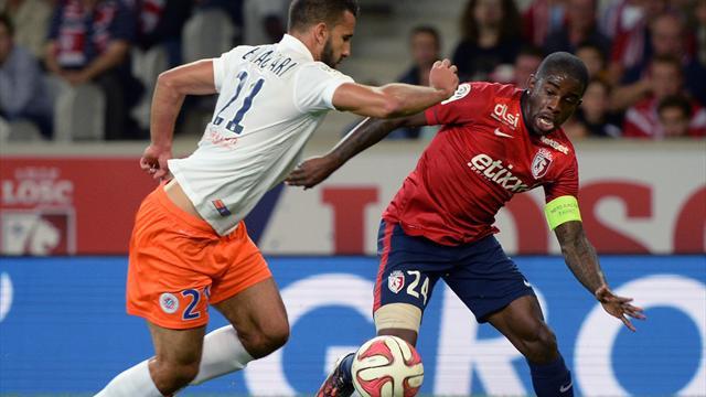Rio Mavuba (Lille) face à El Kaoutari (Montpellier)